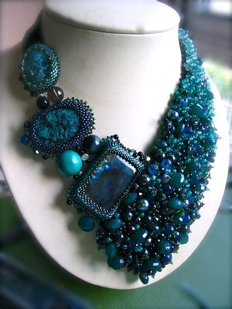 beadwork green green beadwork necklace by artstudio51 on etsy