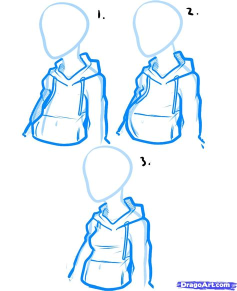 how to draw hoodies how to draw a hoodie draw hoodies step by step fashion