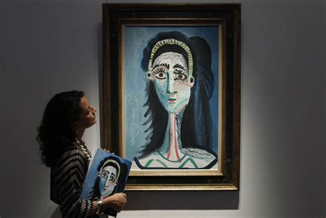 unseen picasso paintings found in garage christie s sale hits target as unseen picasso sells