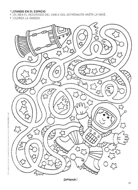 space printable activity sheets free astronaut maze worksheet 1 space pinterest