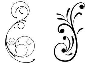 free swirly floral vector clip art freevectors