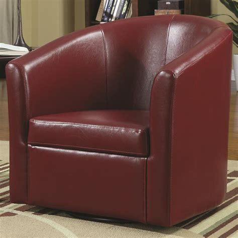 coaster 902099 vinyl accent swivel chair at sutherlands