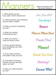 manners for elementary social communication