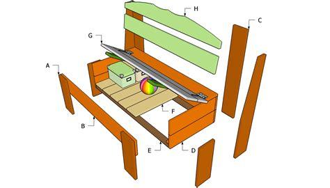 wooden bench plans  storage  woodworking