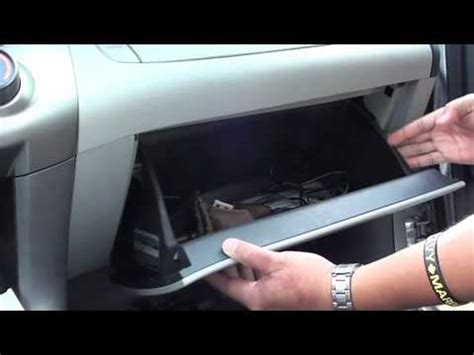 diy rav4 2009 removing glove box youtube