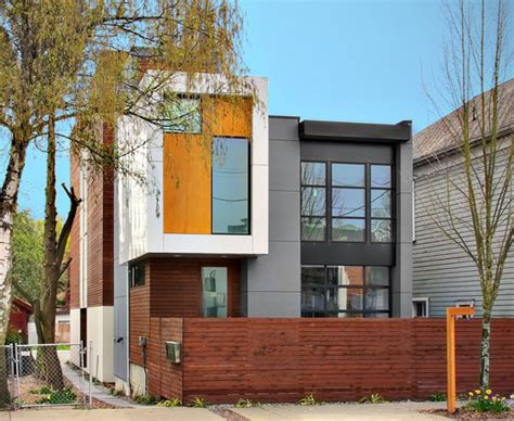 elemental living contemporary houses contemporary residential architecture in seattle 3 homes in 1 by pb elemental