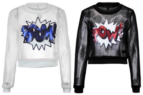 Sweater Comic Pop comics pow the shoulder sweater pullover sweatshirt