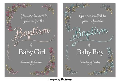Baptism Invitation Card Template by Baptism Invitation Card Template Vector Free