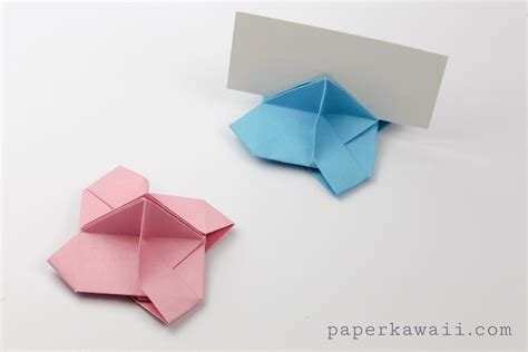 Origami Business Card Holder - origami card holder paper kawaii