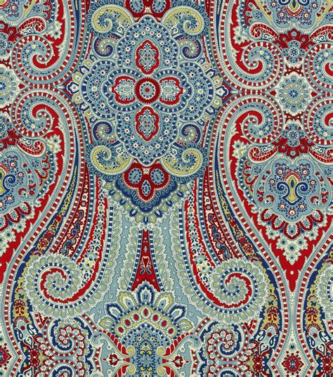 house of fabrics waverly home decor print fabric paisley pizzazz herita