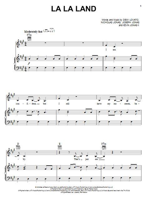 lalala testo la la land sheet by demi lovato piano vocal