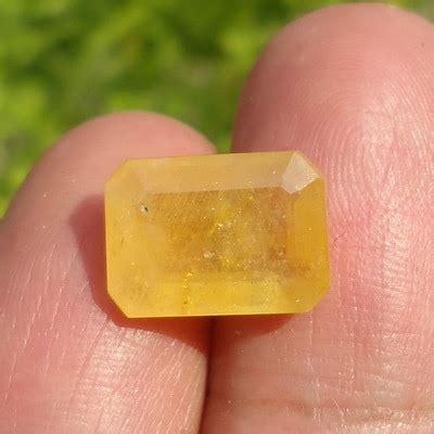 Yellow Sapphire Safir Kuning 3 6ct mustika safir kuning bertuah lulus tes pusaka dunia
