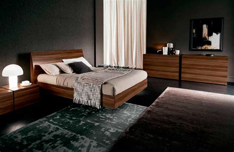 made in italy wood platform bedroom sets feat light vela italian walnut platform bed by rossetto rossetto
