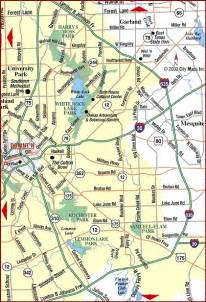 road map of metro dallas east dallas