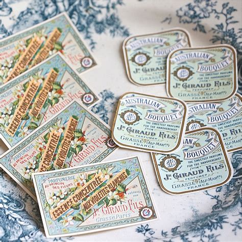 antique french perfume labels sold  french finds