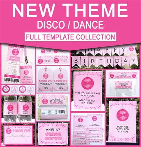 Printable Disco Dance Party Invitations Decorations Disco Invitations Free Template