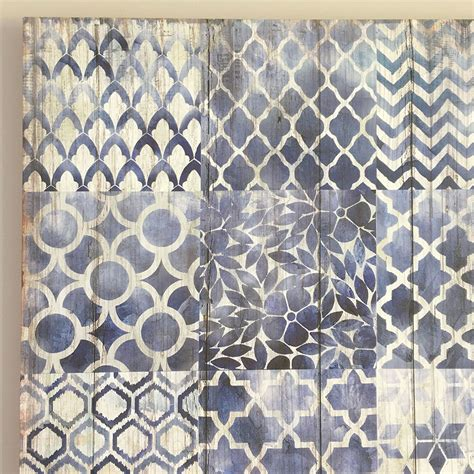 geometric pattern wall canvas navy blue white wall canvas ready to hang wall art