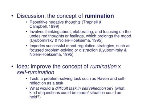 ruminating thoughts worksheet self reflection as a problem solving task