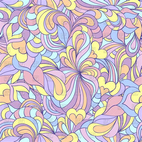 seamless doodle pattern free vector colorful doodle abstract seamless pattern vector image