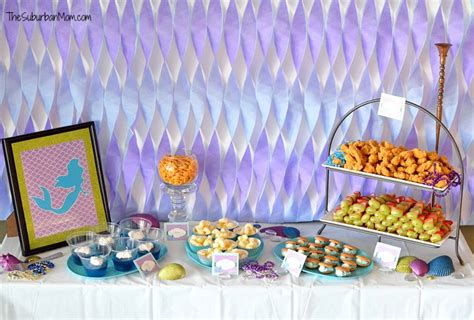 little decorations the little mermaid ariel birthday party ideas food