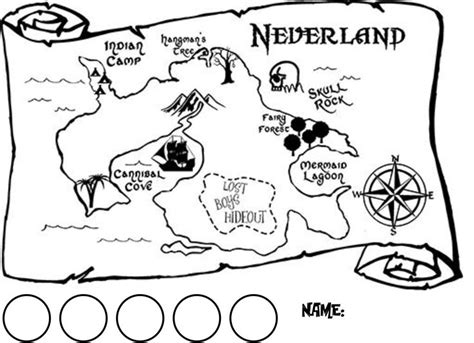 neverland map coloring page 108 best images about jake and the neverland pirates party