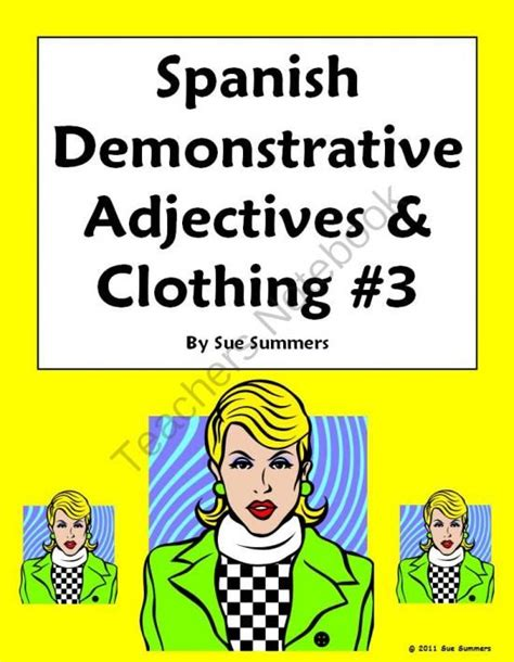 spanish english classes 45 best demonstrative adjectives images on pinterest