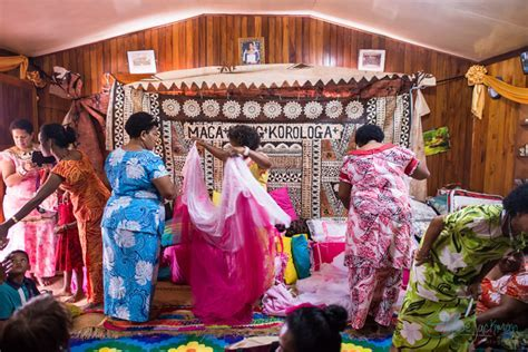 "Mr and Mrs Phil Korologa's ""Tevutevu""   Traditional Fijian"