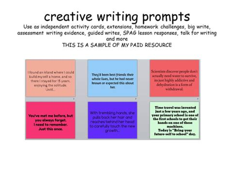ks2 ideas for writing writing prompts ks2 ks3 by erylands teaching resources tes
