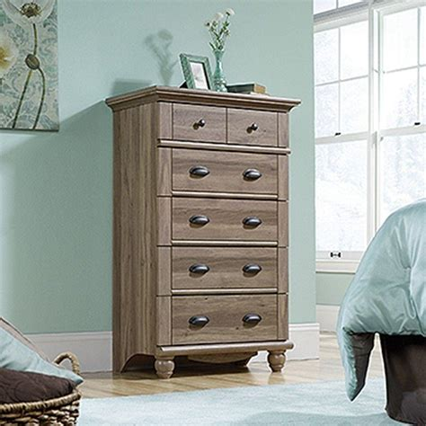 Sauder Harbor View 5 Salt Oak Chest 414941 The