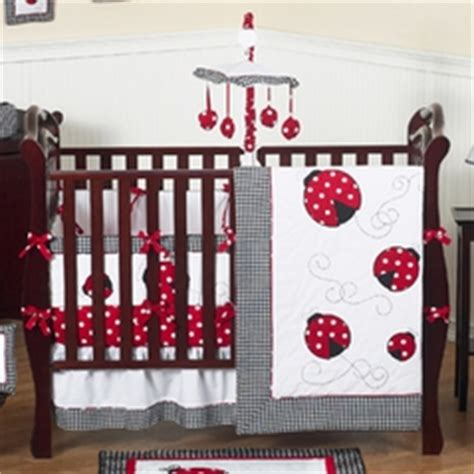 ladybug crib bedding sets black and white baby bedding and crib sets