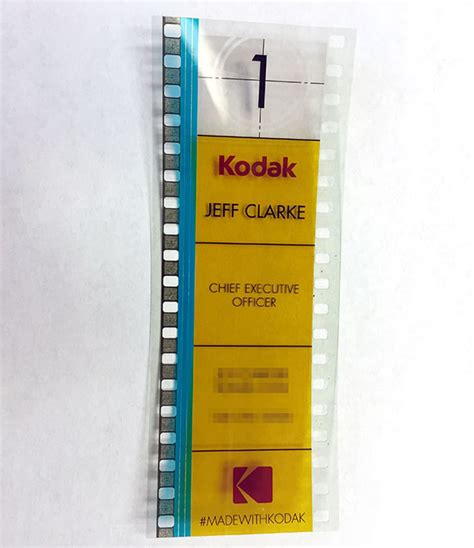 kodak cards templates kodak s ceo uses 35mm as a business card bored panda