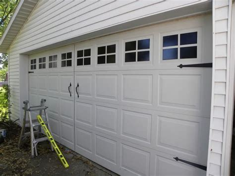 faux carriage garage door windows rev our house
