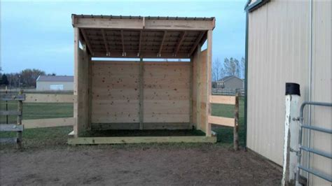 building lean barn  shelter  skids youtube
