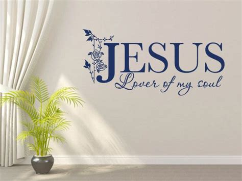christian wall decal lover my soul code 122