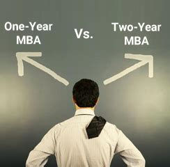 State 2 Year Mba by One Year Vs Two Year Mba
