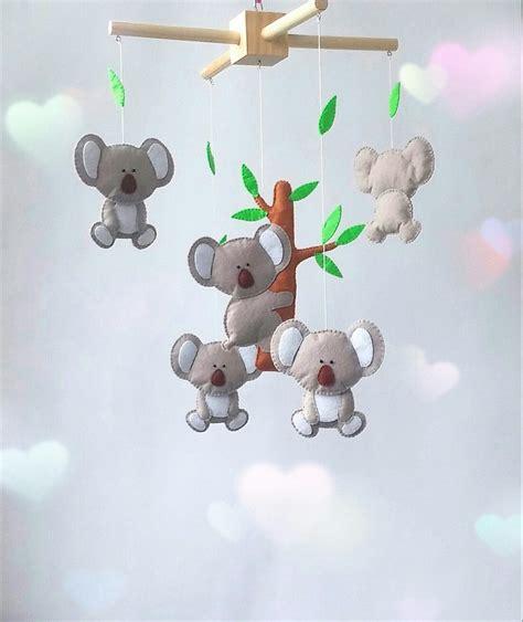 Animal Crib Mobile by Koala Crib Mobile Nursery Animal Mobile Felt Zootoys