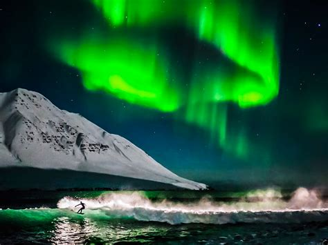 iceland in january northern lights surfing the northern lights nat geo traveller india