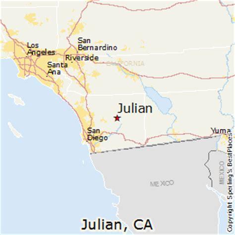 julian california map best places to live in julian california
