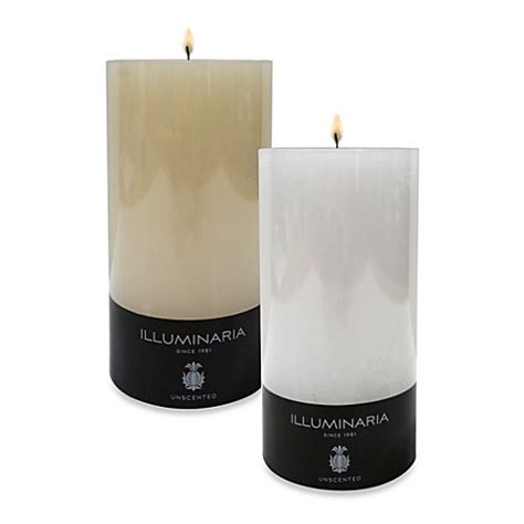 bed bath and beyond candles illuminaria solid smooth pillar candle bed bath beyond