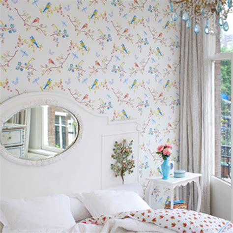 Bedroom Wallpaper Birds Bird Wallpaper The The Bad And The Room Envy