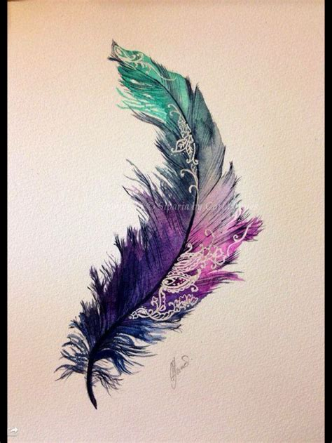 watercolor feather tattoo 107 best dreamcatcher tattoos images on