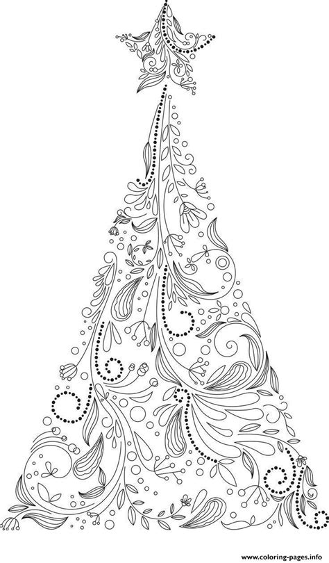 christmas tree coloring page for adults christmas adult tree coloring pages printable
