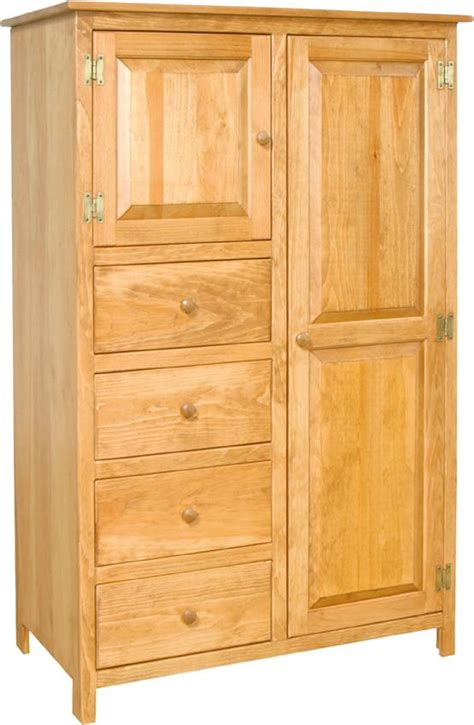 pine wood wardrobe armoire  dutchcrafters amish furniture