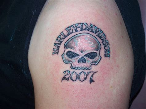 harley davidson skull tattoo designs 52 awesome harley tattoos