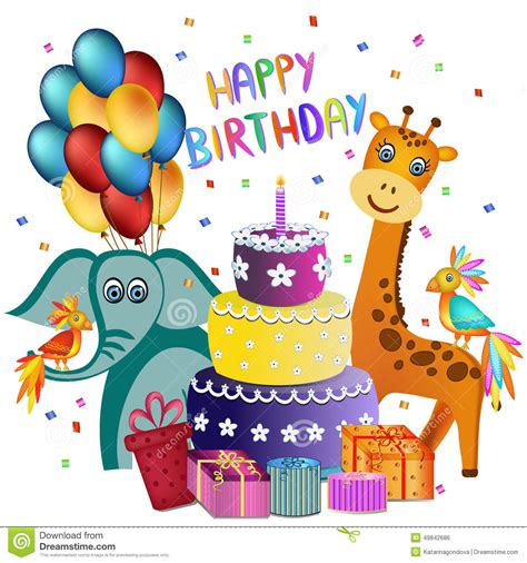 birthday card to your happy birthday greeting card stock vector image 49842686