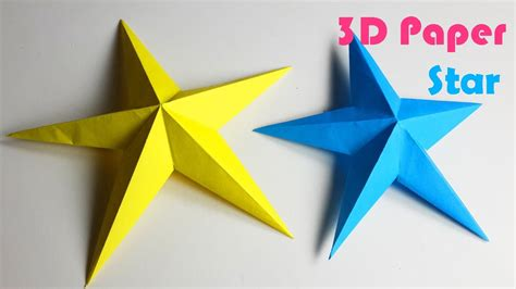 How To Make 3d On Paper - how to make simple 3d paper diy paper crafts