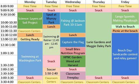 After School Program Schedule Template