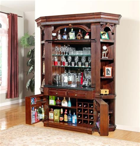 parker house wellington library bookcase wall unit 5 ph wellington 3 piece bookcase library wall in vintage brown