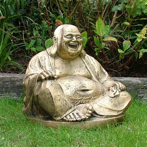 Statue Garden by Gold Laughing Buddha Statue Sculpture Garden Ornament