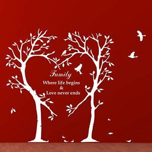 Large Tree Wall Sticker family tree wall art sticker inspirational love birds